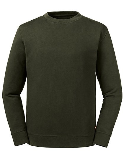 Pure Organic Reservible Sweat Dunkeloliv