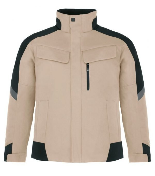 Arbeitsjacke Winter beige