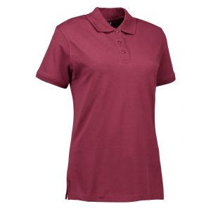 G Stretch Damen Polo 030527 Bordeaux